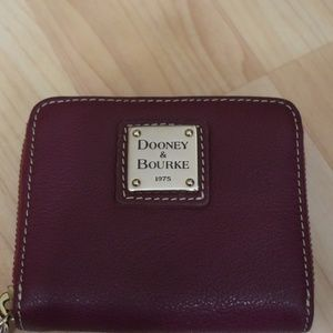Dooney & Bourke Pebble Grain Zip Around Wristlet